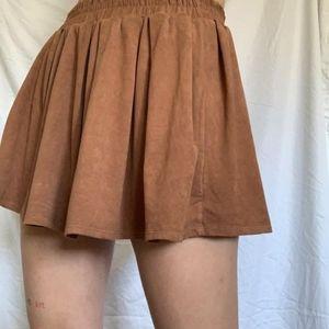 Ardene Brown Velvet-y Skirt
